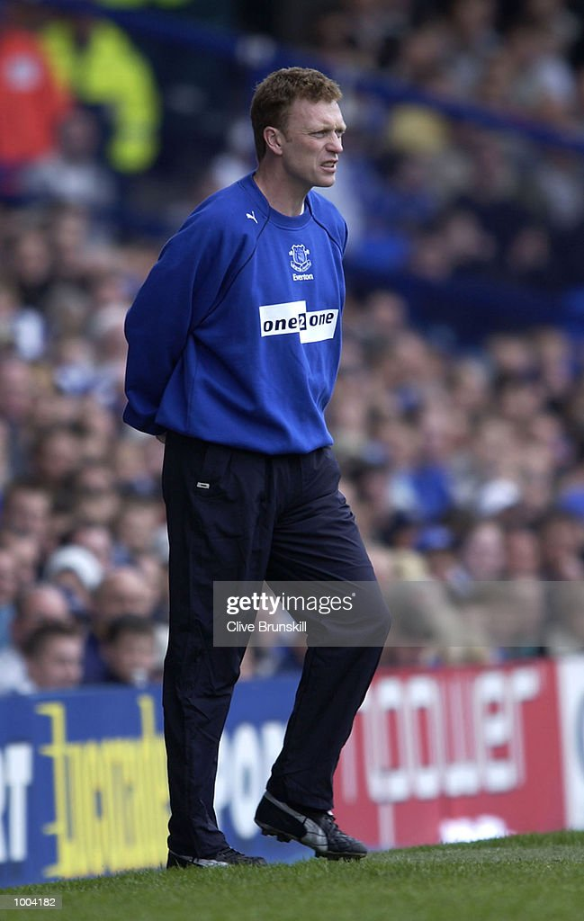 Everton manager David Moyes on the touchline during the Everton v Leicester City FA Barclaycard Premiership match at Goodison Park, Everton. DIGITAL IMAGE Mandatory Credit: CLIVE BRUNSKILL/Getty Images
