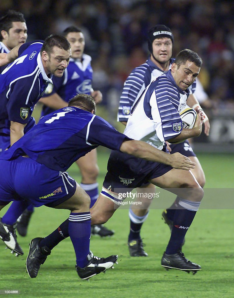 Franco Smith #10 of the Bulls tries to break away during the Super 12 game between the Blues and the Bulls at Eden Park Auckland, New Zealand. The Blues won 65-24. DIGITAL IMAGE. Mandatory Credit: Nigel Marple/Getty Images