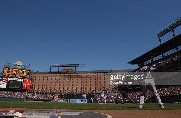 General view of the action during the game at the Oriole Park at Camden Yards in Baltimore Maryland DIGITAL IMAGE Mandatory Credit Doug Pensinger...