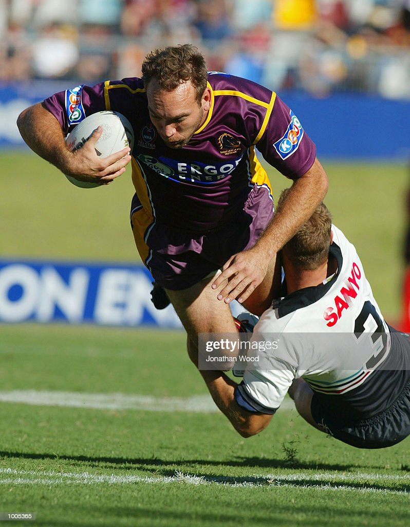 Gorden Tallis of the Broncos in action during the National Rugby League Match between the Brisbane Broncos and the Panthers, played at ANZ Stadium, Brisbane, Australia. DIGITAL IMAGE. Mandatory Credit: Jonathan Wood/Getty Images