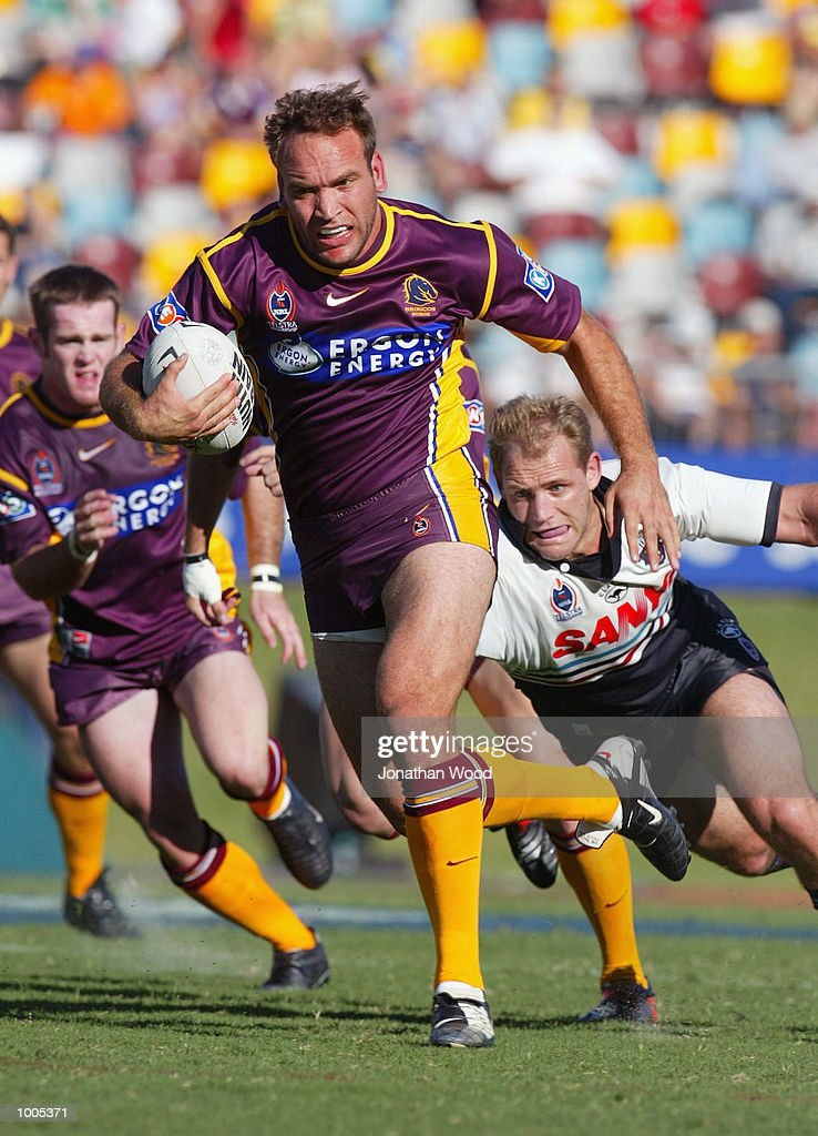 Gorden Tallis #11 of the Broncos in action during the National Rugby League Match between the Brisbane Broncos and the Panthers, played at ANZ Stadium, Brisbane, Australia. DIGITAL IMAGE. Mandatory Credit: Jonathan Wood/Getty Images