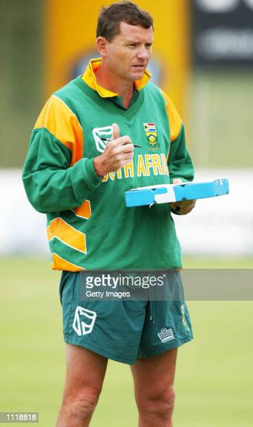 Graham Ford looks on during the South Africa nets session at St George's Park Port Elizabeth South Africa DIGITAL IMAGE TOUCHLINE PHOTO IMAGES ARE...