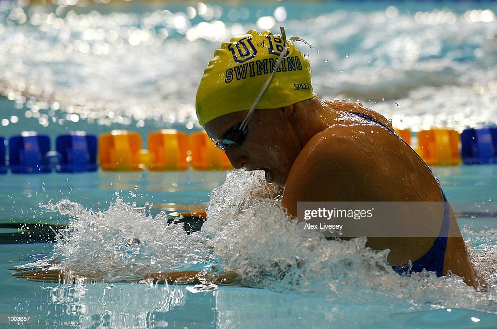 Jaime King in action during the heats for the Womens 200m Breaststroke at the British Long Course Swimming Championships held at the Manchester Aquatics Centre. DIGITAL IMAGE. Mandatory Credit: Alex Livesey/Getty Images