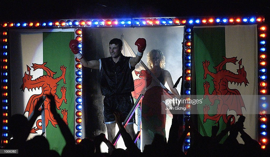 Joe Calzaghe (Wales) beat Charles Brewer(USA) to retain his WBO title in Cardiff, Wales. Here Calzaghe makes a grand entrance DIGITAL IMAGE Mandatory Credit: John Gichigi/Getty Images