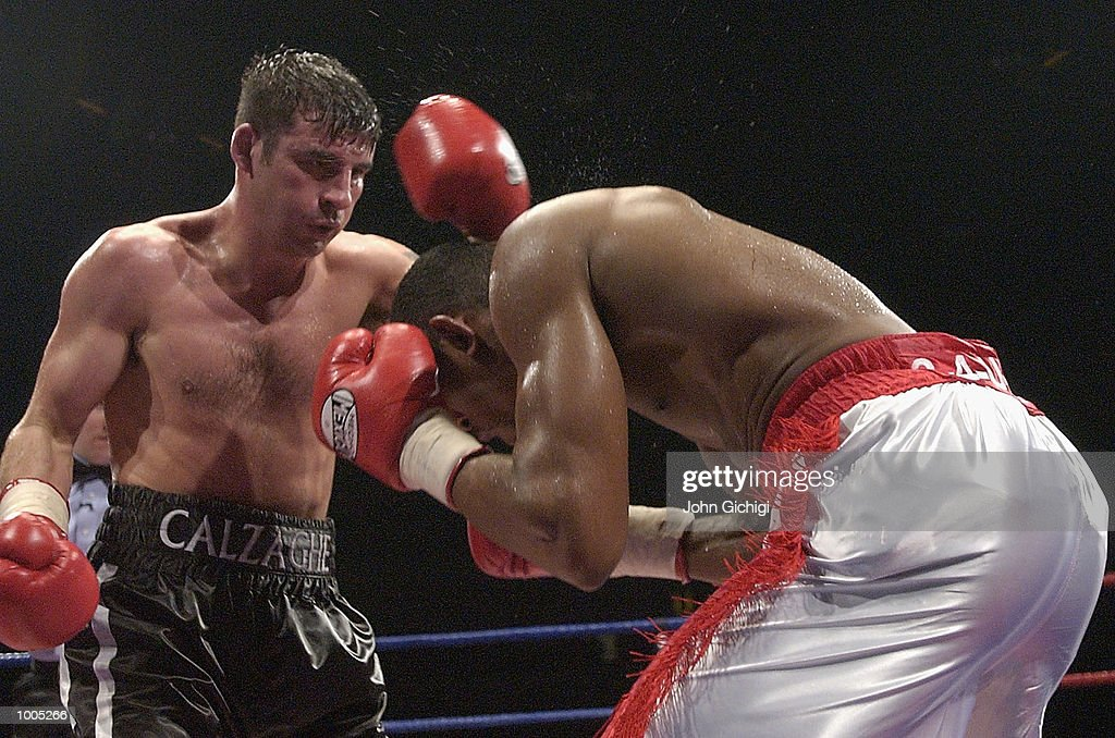 Joe Calzaghe (Wales) beat Charles Brewer(USA) to retain his WBO title in Cardiff, Wales. DIGITAL IMAGE Mandatory Credit: John Gichigi/Getty Images