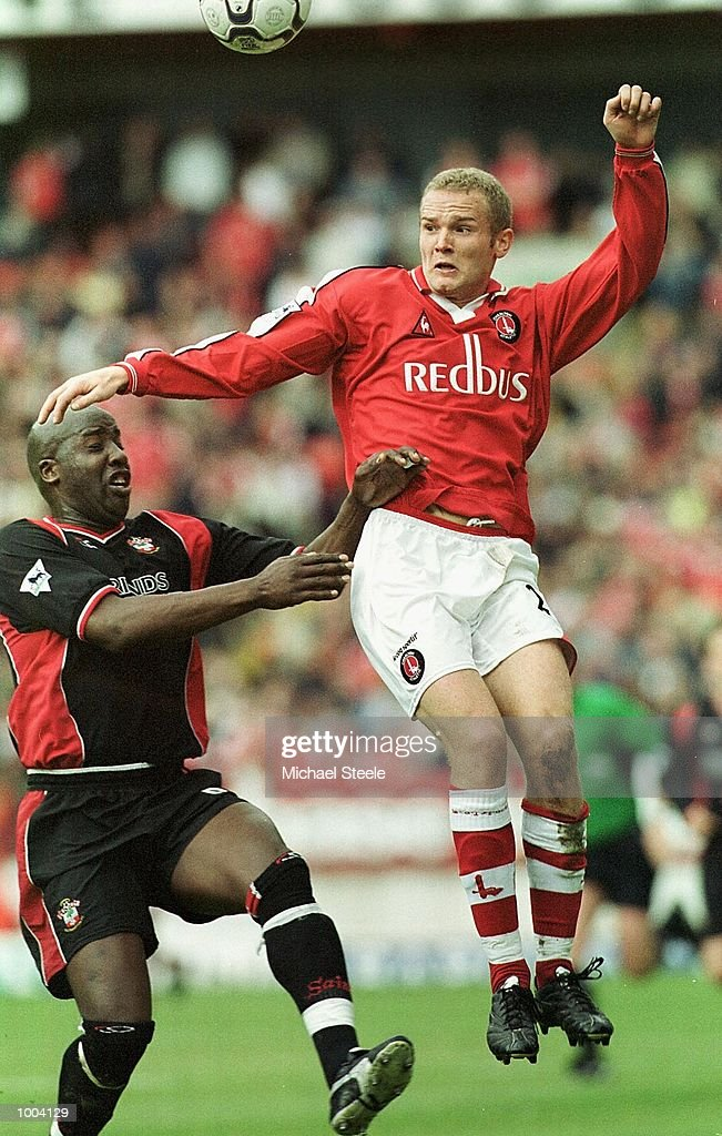 Jonatan Johansson of Charlton in action during the FA Barclaycard Premiership match between Charlton Athletic and Southampton at The Valley, London. Mandatory Credit: Michael Steele/Getty Images
