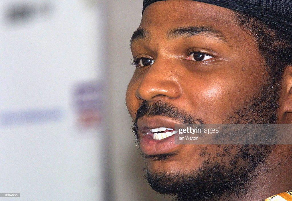 Julius Long of the USA during the Head to Head with Audley Harrison at The Wembley Plaza Hotel, Wembley, London. DIGITAL IMAGE Mandatory Credit: Ian Walton/Getty Images