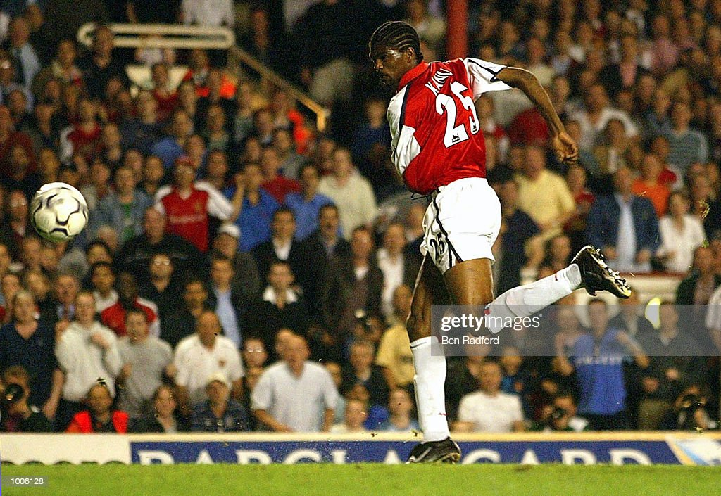 Kanu of Arsenal scores the second goal during the FA Barclaycard Premiership match between Arsenal and West Ham United at Highbury, London. DIGITAL IMAGE Mandatory Credit: Ben Radford/Getty Images