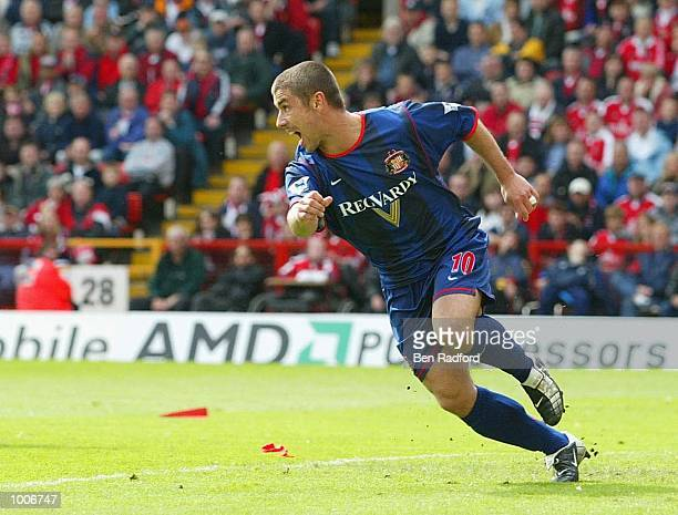 Kevin Phillips of Sunderland celebrates after scoring the second goal during the FA Barclaycard Premiership match between Charlton Athletic and...