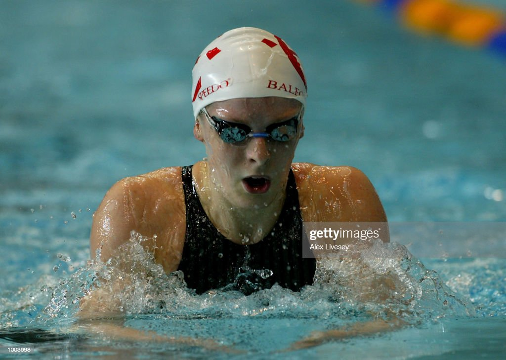 Kirsty Balfour in action during the heats for the Womens 200m Breaststroke at the British Long Course Swimming Championships held at the Manchester Aquatics Centre. DIGITAL IMAGE. Mandatory Credit: Alex Livesey/Getty Images