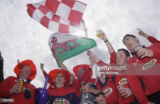 Llanelli fans before the Heineken Cup semi final match between Leicester Tigers and Lianelli at the City Ground Nottingham DIGITAL IMAGE Mandatory...