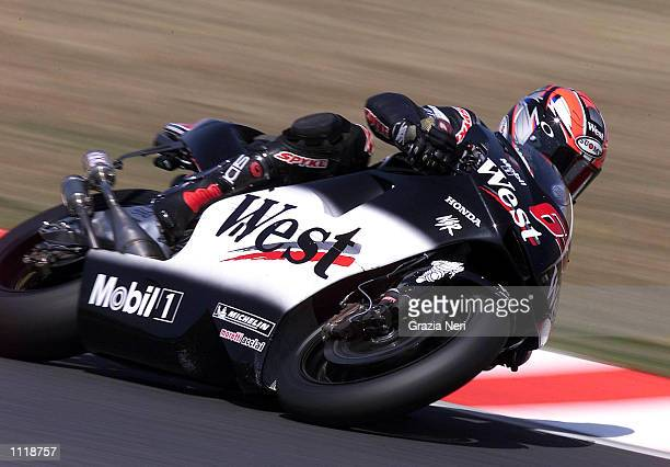 Loris Capirossi of Italy and the West Honda Pons team in action during testing for the opening round of the 500cc MotoGP Championship at Suzuka Japan...
