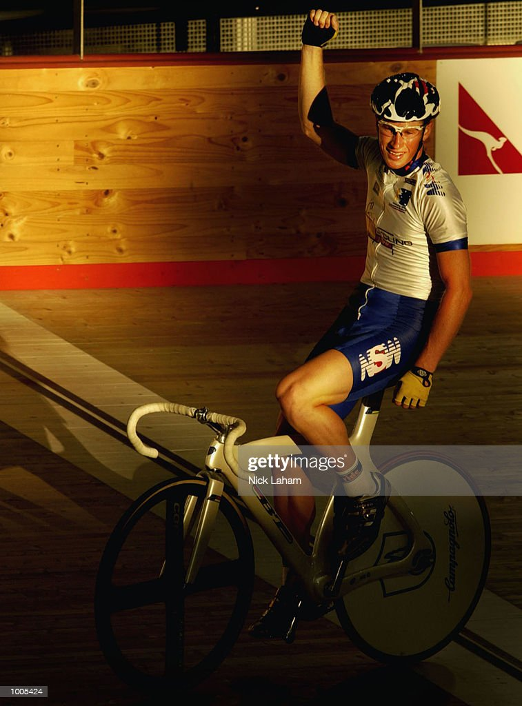 Mark Renshaw of New South Wales celebrates winning the Mens 40k Points Race during the National Track Championships held at the Dunc Gray Velodrome, Sydney, Australia. Mandatory Credit: Nick Laham/Getty Images