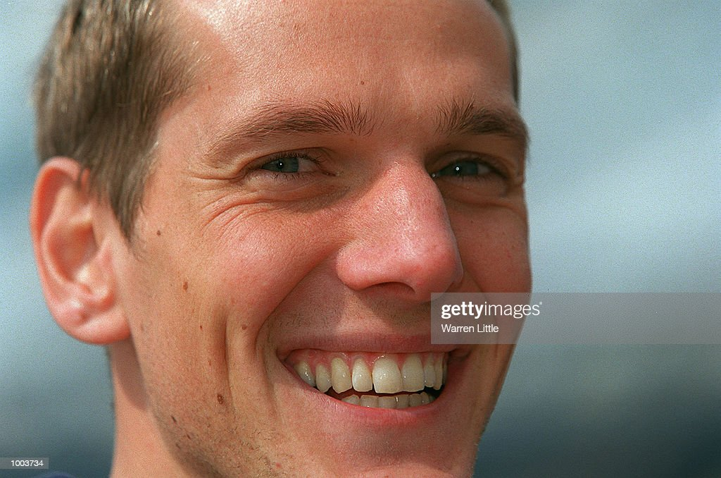 Mark Steinle of Great Britain smiles during a press conference for the Flora London Marathon held at Tower Bridge, London. Mandatory Credit: Warren Little/Getty Images