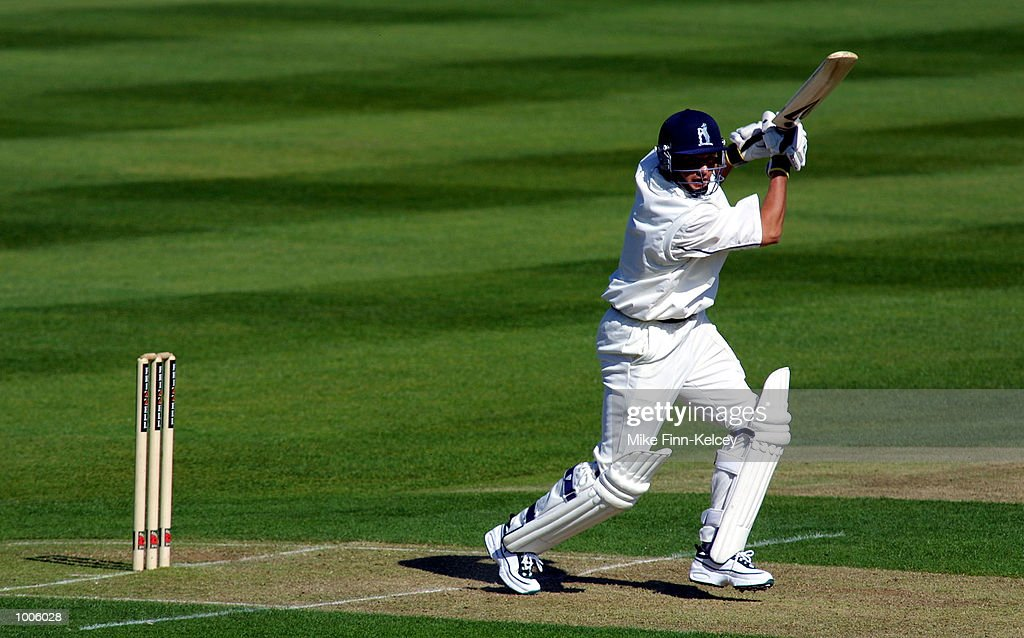 Melvyn Betts of Warwickshire hits out on his way to a half-century against Lancashire during the Frizzell County Championship match between Warwickshire and Lancashire at Edgbaston, Birmingham. DIGITAL IMAGE Mandatory Credit: Mike Finn Kelcey/Getty Images