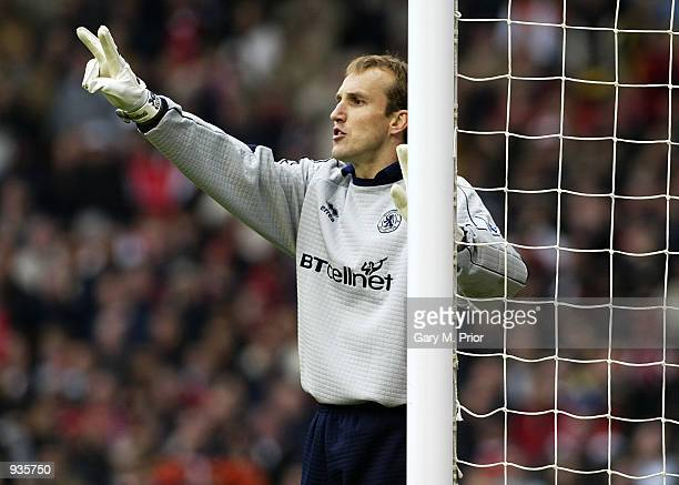 Middlesbrough keeper Mark Schwarzer during the AXA sponsored FA Cup Semifinal match between Middlesbrough and Arsenal at Old Trafford in Manchester...