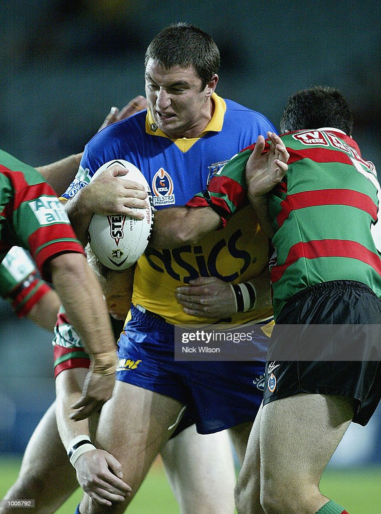 Nathan Hindmarsh #4 of Parramatta in action during the Round 6 NRL Match between South Sydney and Parramatta being played at Aussie Stadium, Sydney, Australia. DIGITAL IMAGE Mandatory Credit: Nick Wilson/Getty Images