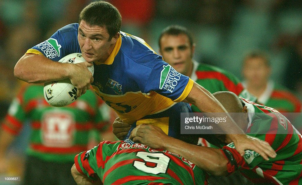 Nathan Hindmarsh #11 of the Eels in action during the Round 6 NRL match between the South Sydney Rabbitohs and the Parramatta Eels held at Aussie Stadium, Sydney, Australia. DIGITAL IMAGE. Mandatory Credit: Chris McGrath/Getty Images