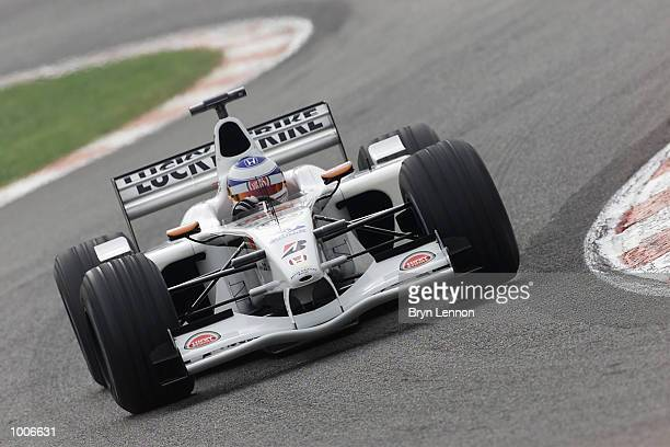 Olivier Panis of France and BAR in action during second practice for the Formula One Spanish Grand Prix at the Circuit de Catalunya Barcelona DIGITAL...