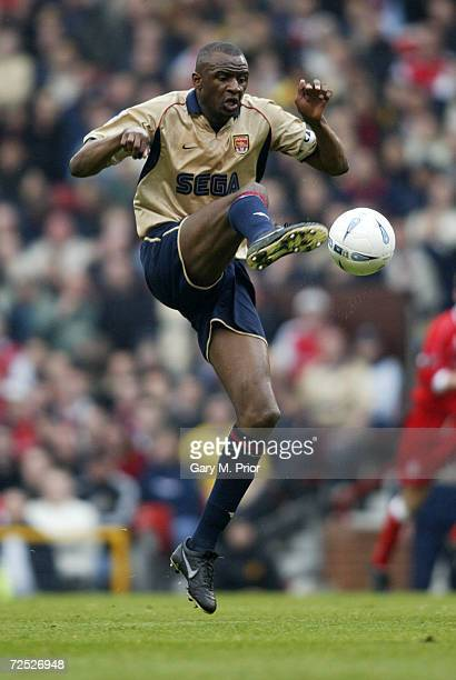 Patrick Vieira of Arsenal on the ball during the AXA sponsored FA Cup Semifinal match between Middlesbrough and Arsenal at Old Trafford in Manchester...