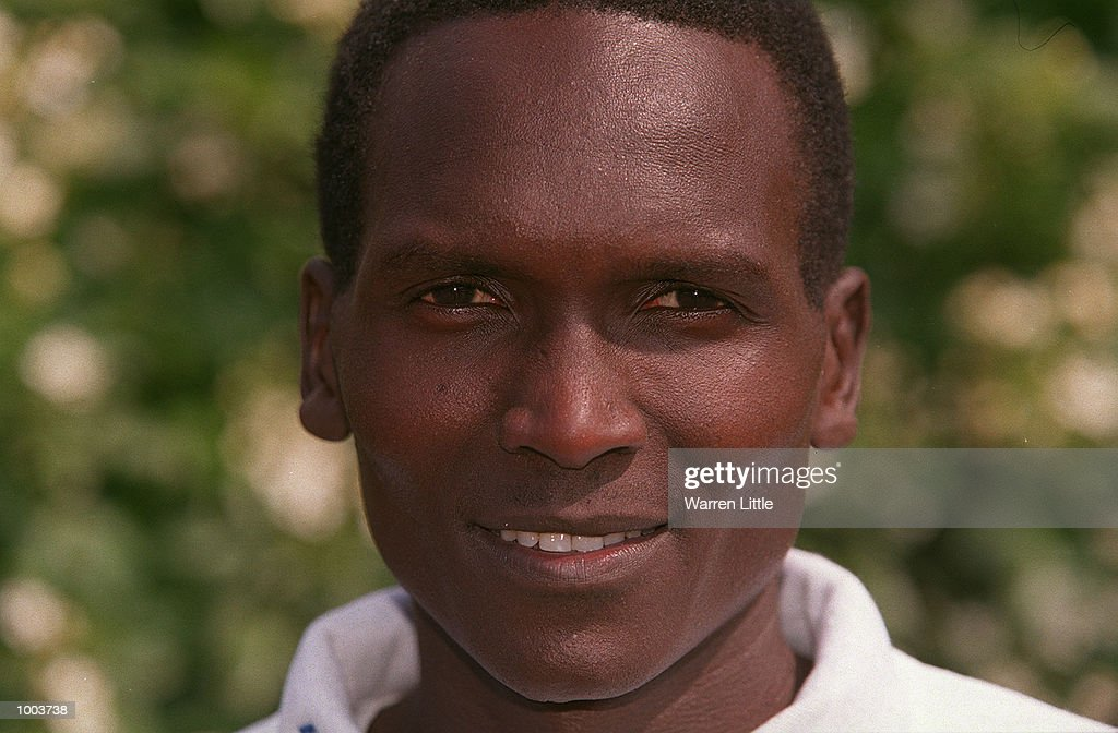 Paul Tergat of Kenya poses during a press conference for the Flora London Marathon held at Tower Bridge, London. Mandatory Credit: Warren Little/Getty Images