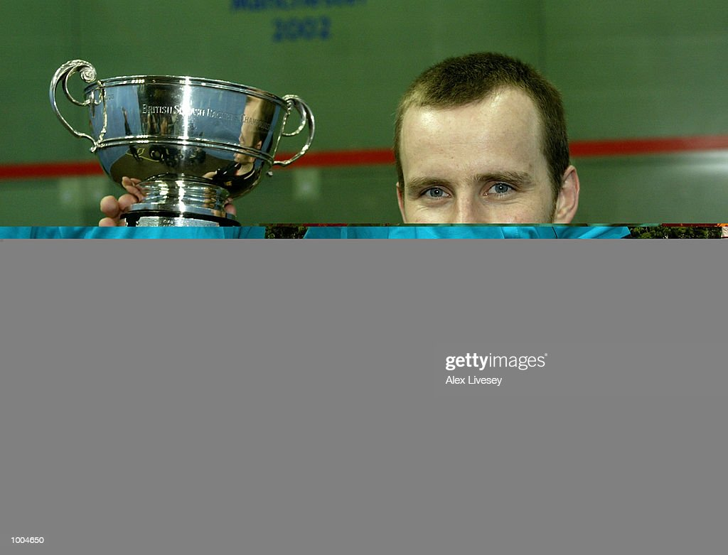 Peter Nicol of England wins the Mens Final of the British Open at the Commonwealth Stadium, Manchester. DIGITAL IMAGE. Mandatory Credit: Alex Livesey/Getty Images