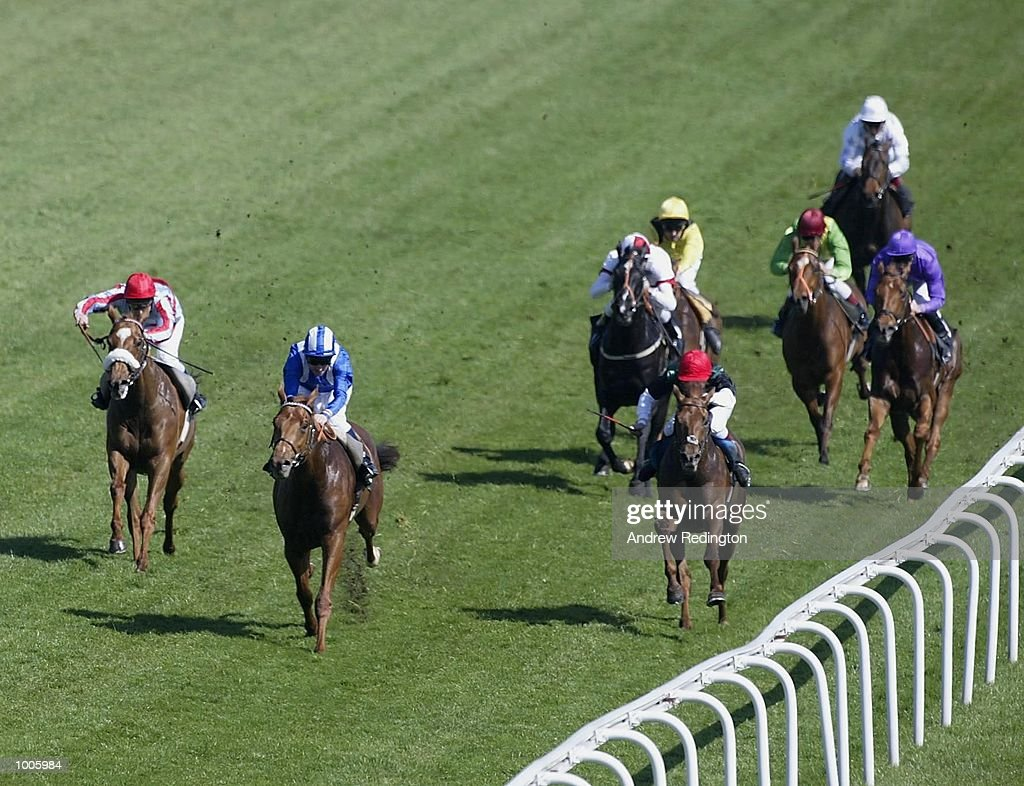 R. Hills riding Zawrak comes home to land the Stanley Racing maiden stakes at Epsom Race Course, Surrey. DIGITAL IMAGE Mandatory Credit: Andrew Redington/Getty Images