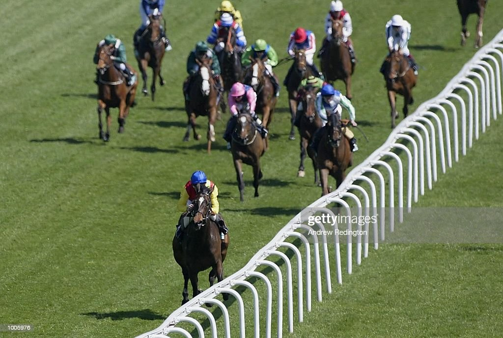 R. Hughes riding Salim Toto comes home to land the Stanley Racing great metropolitan stakes at Epsom Race Course, Surrey. DIGITAL IMAGE Mandatory Credit: Andrew Redington/Getty Images