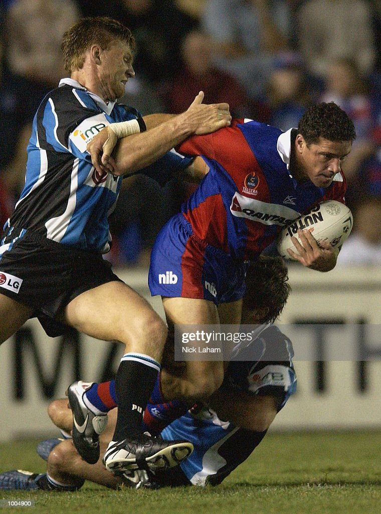 Robbie O''Davis #1 of the Knights in action during the NRL match between the Newcastle Knights and the Sharks held at Energy Australia Stadium, Newcastle, Australia. Mandatory Credit: Nick Laham/Getty Images