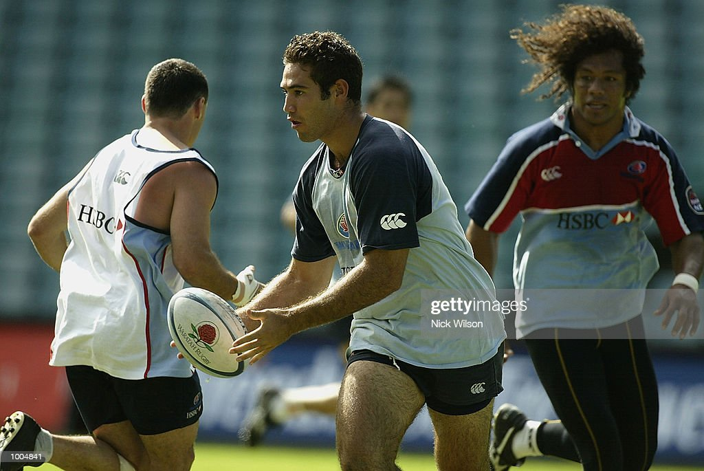 Sam Harris of the Waratahs in action during the Waratahs Training Session before their clash with the ACT Brumbies tomorrow night,at Aussie Stadium, Sydney, Australia Mandatory Credit: Nick Wilson/Getty Images
