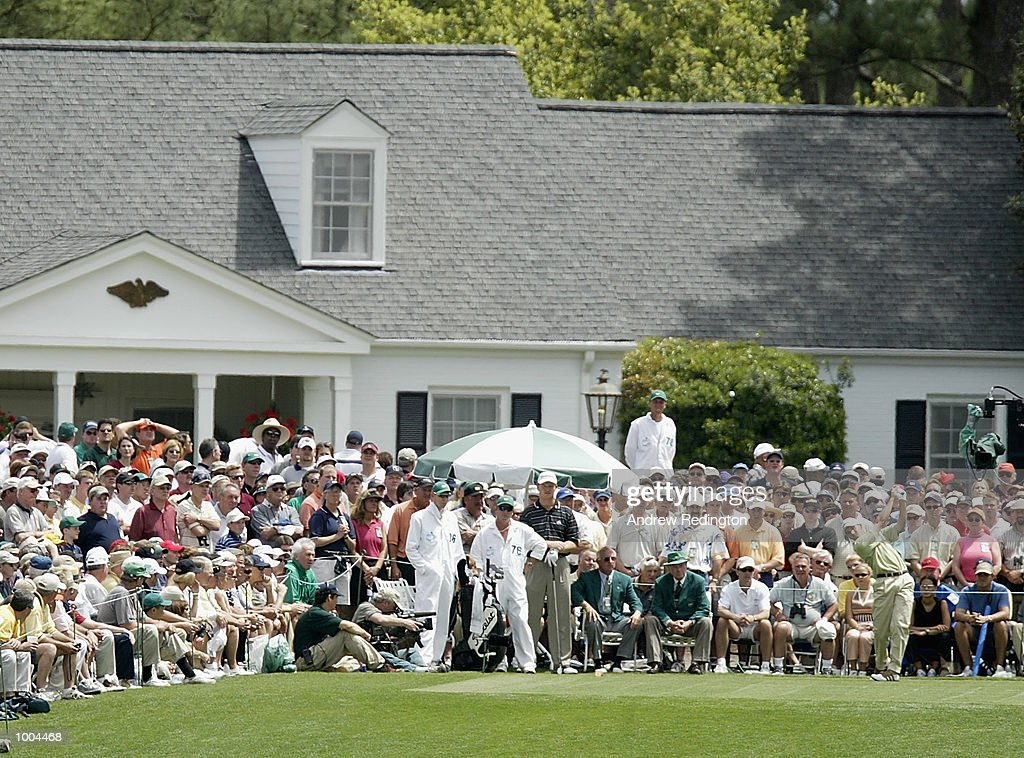 Sergio Garcia of Spain plays his tee shot on the first hole during the final round of the Masters Tournament from the Augusta National Golf Club in Augusta, Georgia. DIGITAL IMAGE. EDITORIAL USE ONLY Mandatory Credit: Andrew Redington/GettyImages