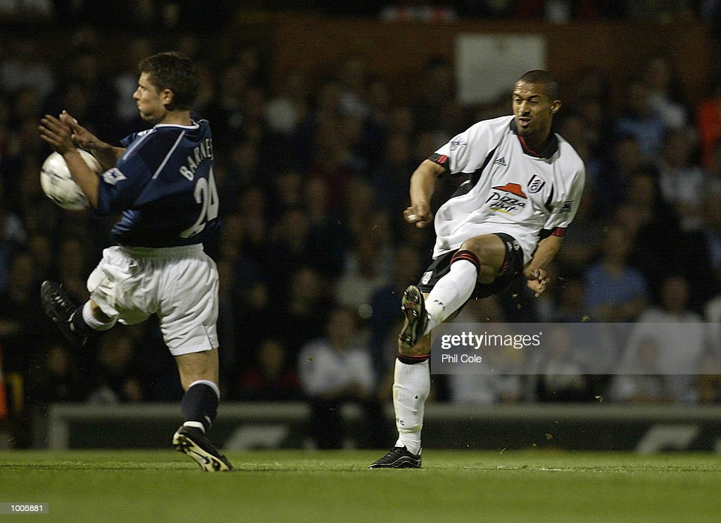 Steve Marlet of Fulham scores the 2nd goal during the FA Barclaycard Premiership match between Fulham and Bolton Wanderers at Craven Cottage, London. DIGITAL IMAGE Mandatory Credit: Phil Cole/Getty Images