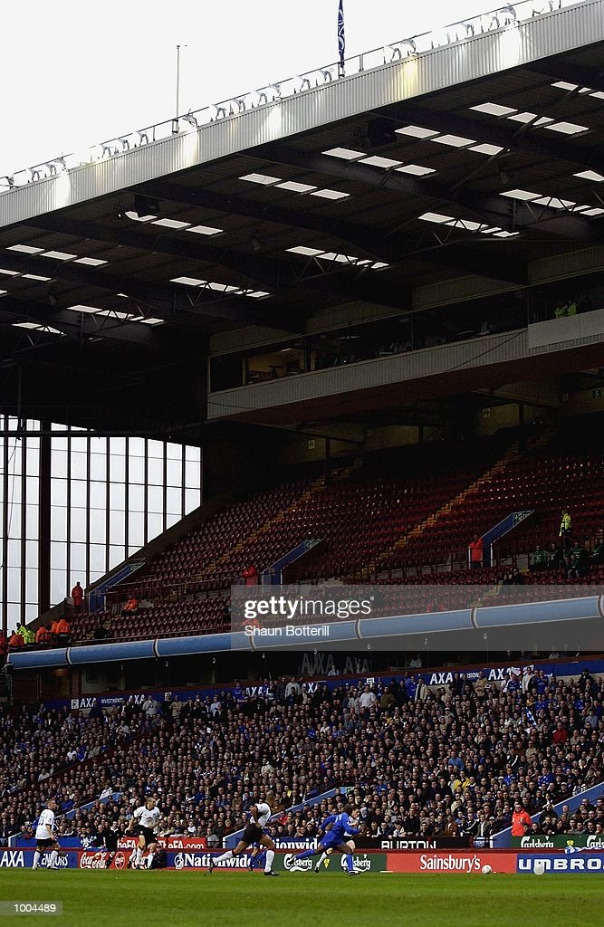 The empty stand for the Fulham fans during the Axa FA Cup Semi Final match between Chelsea and Fulham at Villa Park, Birmingham. DIGITAL IMAGE. Mandatory Credit: Shaun Botterill/Getty Images