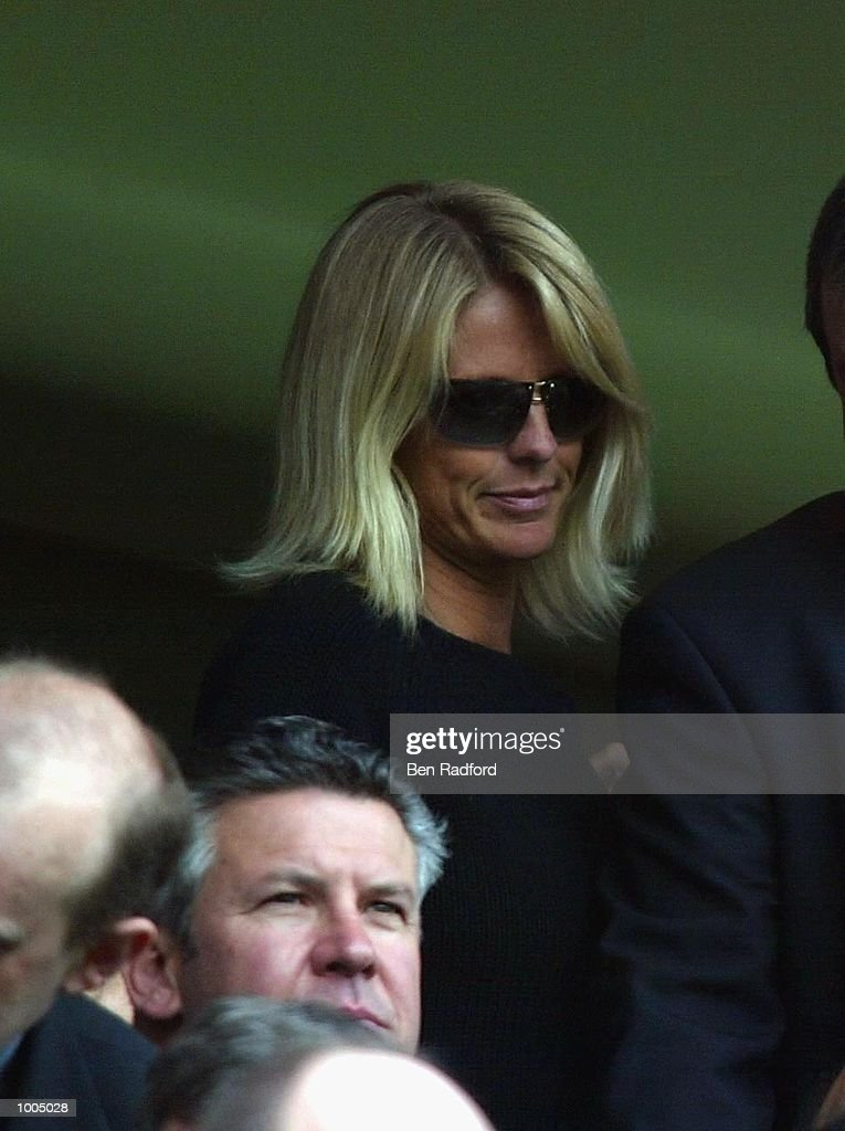 Ulrika Jonsson during the FA Barclaycard Premiership match between Chelsea and Manchester United at Stamford Bridge, London. DIGITAL IMAGE Mandatory Credit: Ben Radford/Getty Images