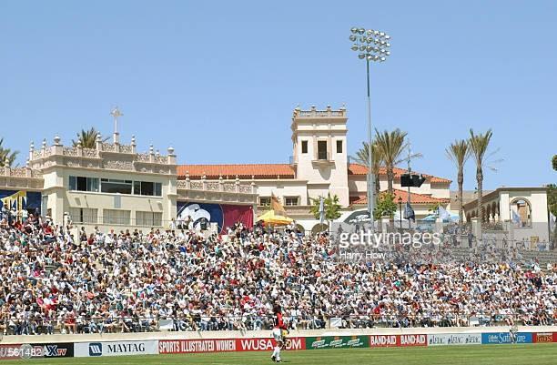 View of the crowd in the stands during the WUSA game at Torero Stadium in San Diego California The Spirit won 61DIGITAL IMAGE Mandatory Credit Harry...
