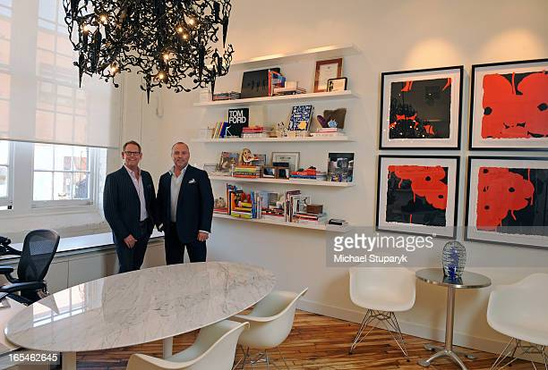 Apr 29 2009 Interior designers Keith Rushbrook on left with glasses and Dan Menchions in their II By IV Design Associates Inc office on Mowat Ave...