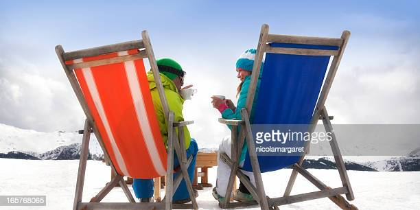 apres-ski couple - apres ski stock pictures, royalty-free photos & images