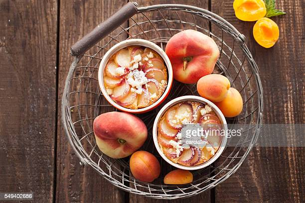 apricot cake in basket - carolafink stock photos and pictures