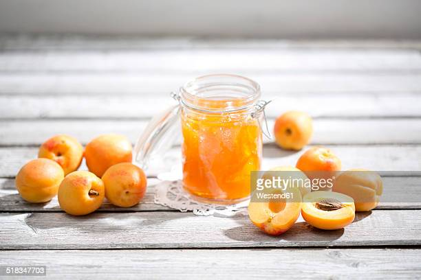 Apricot jam and apricots, Prunus Armeniaca