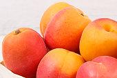 apricot peach wooden box as healthy