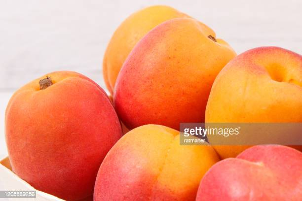 apricot peach wooden box as healthy