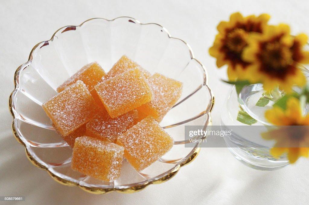 Apricot Pate de Fruit : Bildbanksbilder