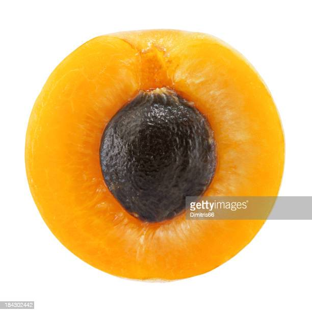 Apricot portion on white
