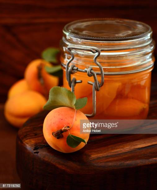 apricot preserve - aniko hobel stock pictures, royalty-free photos & images