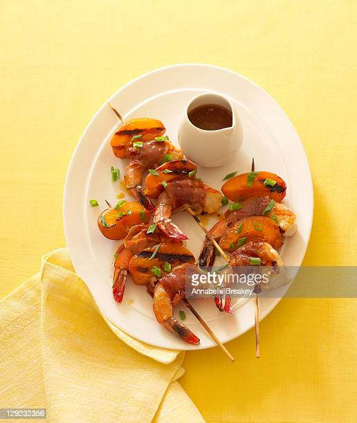 Apricot Shrimp and Prosciutto Skewers
