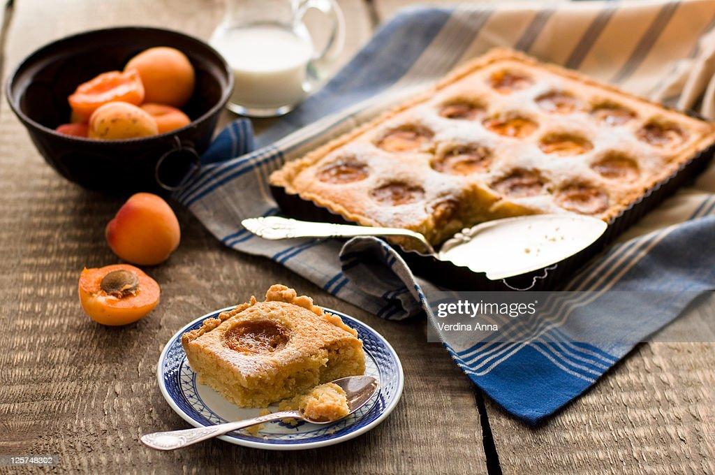 Apricot tart : Stock Photo