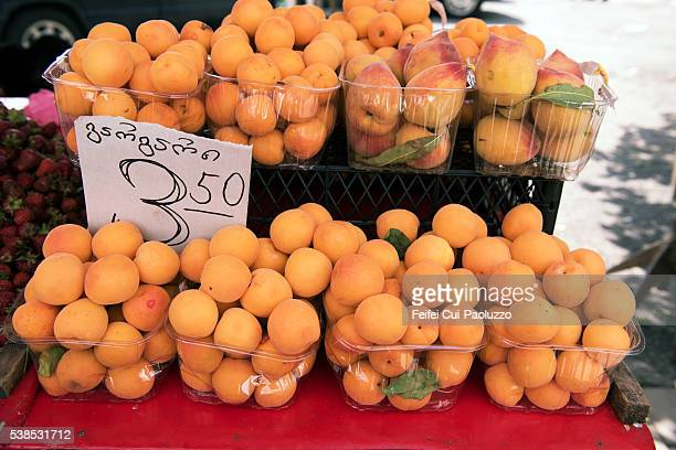 Apricots for sale at market of Batumi in Georgia