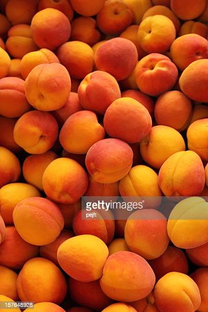 apricots full frame - pejft stock pictures, royalty-free photos & images