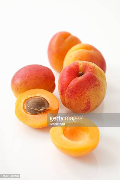 Apricots, whole and halved