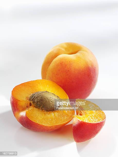 Apricots whole, halved and sliced